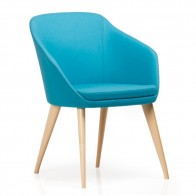 Kayla Designer Midback Chair Beech Legs