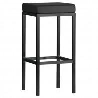Minimalist Bar Stool Black Frame 78cm