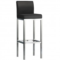 Minimalist Bar Stool Stainless Steel Frame with Backrest