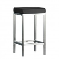 Minimalist Counter Stool Stainless Steel Frame 66cm