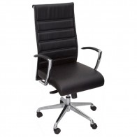 Genuine Leather Office Chair High Back