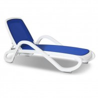 Nadja Modern Resort Style Sun Lounger with Replaceable Fabric