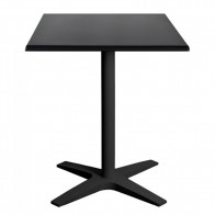 Nordic Square Outdoor Table with Black Base