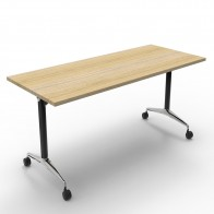 Oak Mobile Flip Top Table