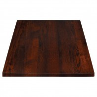 Oak Table Top Walnut Finish