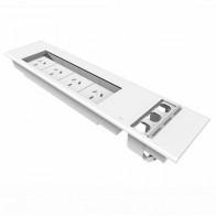 Office Workstation Flush Mounted 4x Power and 3x Data Panel