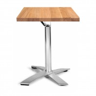 Rylie Stackable Oak Square Timber Folding Table