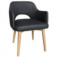 Scandi Vinyl Tub Chair Natural Legs