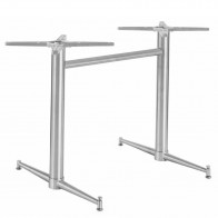 Tayla Levelling Twin Table Base Stainless Steel