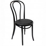 Genuine No 18 Bentwood Chair with Padded Seat by Michael Thonet