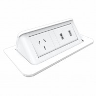 Office Workstation Pop-Up Power and 2x USB Module