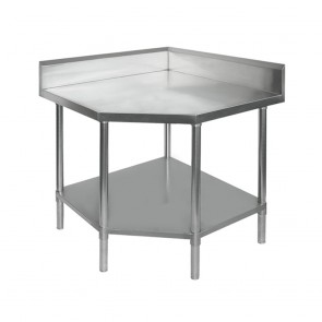 0900-6-WBCB/H FED Corner Workbench With 100mm Splashback, 900x900x900mm 0900-6-WBCB/H