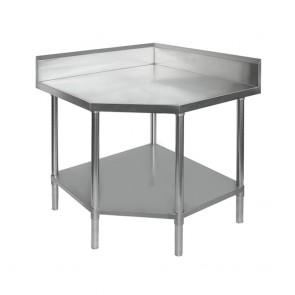 0900-7-WBCB/H FED Corner Workbench With 100mm Splashback, 900x900x900mm 0900-7-WBCB/H