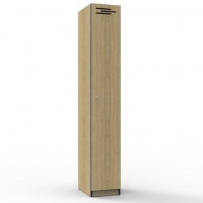 Oak 1 Door Melamine Locker