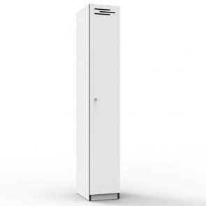 White 1 Door Melamine Locker