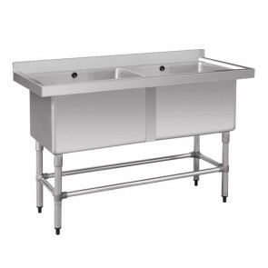 1410-6-DSB Stainless Steel Double Deep Pot Sink