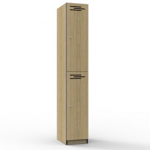 Oak 2 Door Melamine Locker