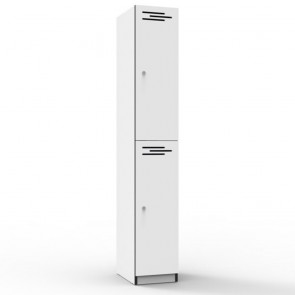 White 2 Door Melamine Locker