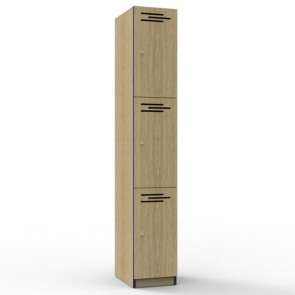 Oak 3 Door Melamine Locker
