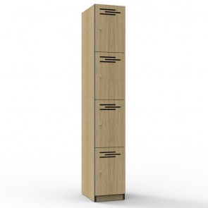 Oak 4 Door Melamine Locker