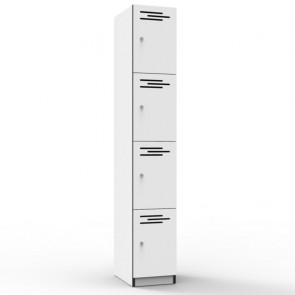 White 4 Door Melamine Locker
