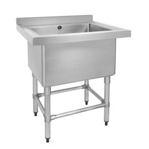 770-6-SSB Stainless Steel Single Deep Pot Sink