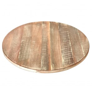 Whitewashed Recycled Round Timber Table Top