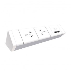 Above Desk 2x Power and 2x USB Outlet Panel