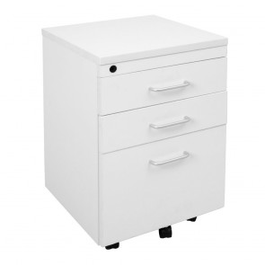 Accent 3 Drawer Melamine Mobile Pedestal