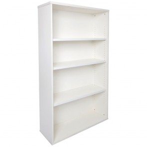 White Office Bookcase Adjustable Shelves