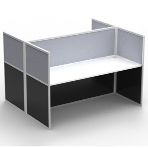 Agile 2 Person Double Sided Workstation with Screens