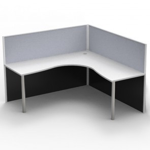 Agile Corner Workstation Desk with Screens
