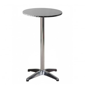 Aida Bar Height Table Round Outdoor Stainless Steel