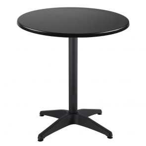 Aida Black Aluminium Round Indoor Outdoor Table