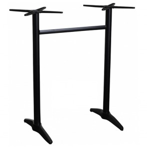 Aida Aluminium Twin Bar Height Table Base