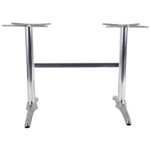 Aida Aluminium Twin Table Base