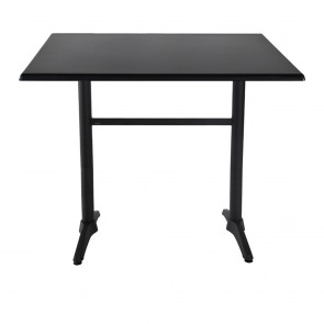 Aida Black Aluminium Indoor Outdoor Bar Height Twin Table