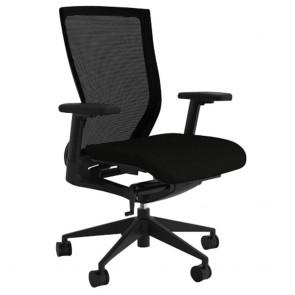 Alpha Ergonomic Black Mesh Office Chair with Lumbar Support