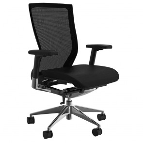 Alpha Ergonomic Mesh Back Executive Office Chair PU Seat