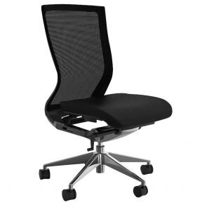 Alpha Ergonomic Office Chair Mesh Back PU Seat