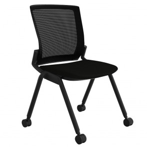 Alpha Visitor Chair Mesh Back with Castors