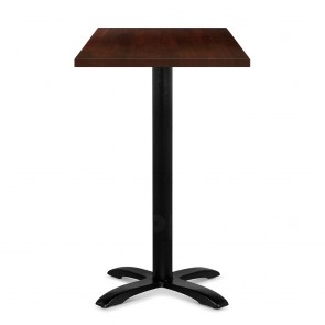 Alvina Modern Square Timber Bar Table