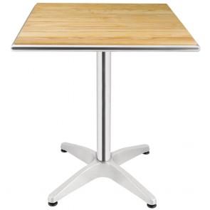 Ovela Ash Flip Top Square Bistro Table 600mm