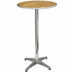 Ovela Ash Flip Top Square Bistro Table 600mm