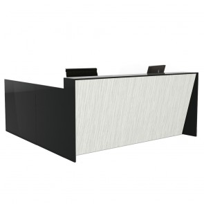 Angled Reception Counter Desk with Return