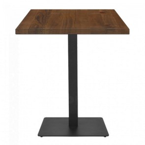 Alvina Hospitality Table Wood Square Rustic Timber