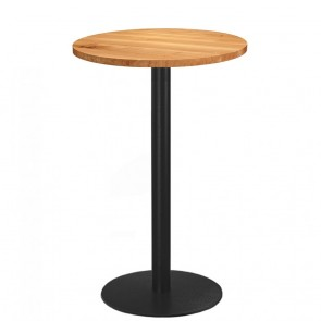 Annick Round Oak Bar Table