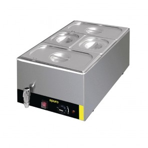 Apuro Bain Marie with Tap and Pans