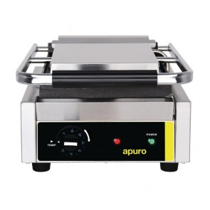 Apuro Bistro Single Contact Grill Smooth Plates