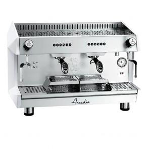 ARCADIA-G2 FED ARCADIA Professional Espresso coffee machine SS polish white 2 Group - ARCADIA-G2